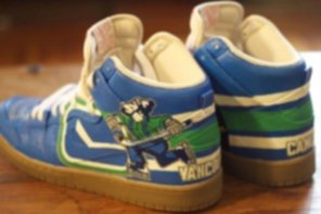 Canucks Nike Air Dunks