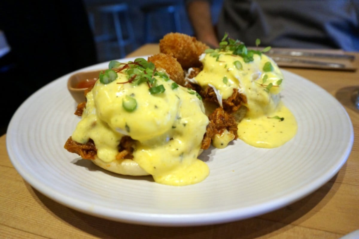 Pulled Pork Eggs Benedict - Ritual Vancouver